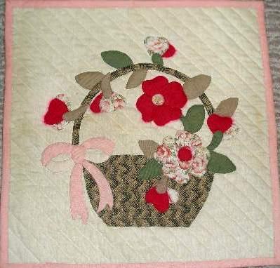 花籠のタペストリー